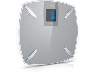 MyBeo Glas Diagnosewaage »Digital-Multifunktionswaage / Max. 180 kg«, silberfarben, silber/grau