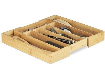 relaxdays Besteckkasten »Besteckkasten Bambus 40cm ausziehbar«