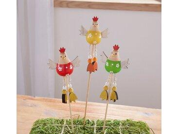 HomeLiving Gartenstecker »Hühnertrio«