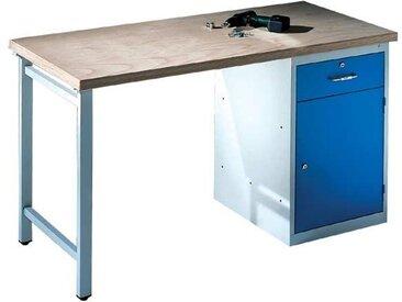 CP Werkbank mit Standschrank und 1 Schublade - 200 cm breit, bunt, bunt