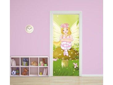 Bilderdepot24 Deco-Panel, Türaufkleber - Kinderbild Elfe