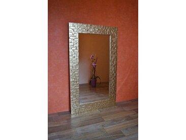 Bilderdepot24 Glasbild, Wandspiegel - Kacheln ca. 100x60 cm, bunt, Gold