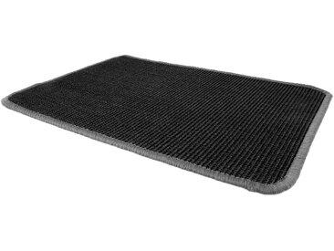 Primaflor-Ideen in Textil Sisalteppich »SISALLUX«, rechteckig, Höhe 6 mm, Obermaterial: 100% Sisal, Wohnzimmer, schwarz, schwarz