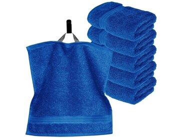 Lashuma Handtuch Set »Linz« (Set, 6-tlg), 6 Stück Kleine Gästehandtücher, Flauschige Waschlappen 30x30 cm, blau, königsblau