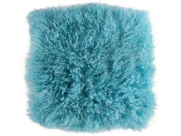 BUTLERS Stuhlkissen » TASHI Lammfell Stuhlauflage 35x35 cm«, blau, Hellblau