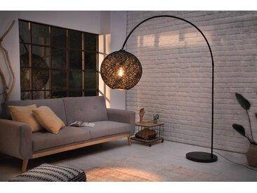 riess-ambiente Bogenlampe »COCOONING 205cm FARBWAHL«, flexibel verstellbar, Natural Look, schwarz, schwarz