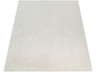 Paco Home Hochflor-Teppich »Avantgarde 550«, rechteckig, Höhe 45 mm, Hochflor-Shaggy, einfarbig und weich, Wohnzimmer, natur, creme