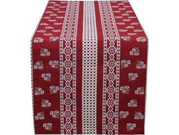 HOSSNER - HOMECOLLECTION Tischläufer »Nigel« (1-tlg), rot, rot-natur