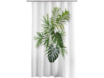 One Home Duschvorhang Breite 180 cm, wasserdicht, Palmen Blätter
