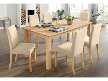 Home affaire Essgruppe, (Set, 7-tlg), natur, beige
