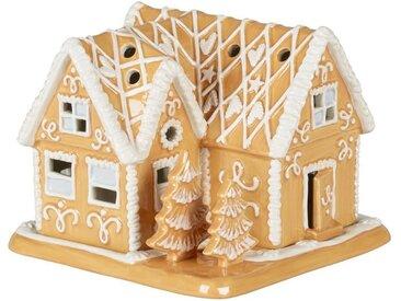 Villeroy & Boch Lebkuchenvilla »Winter Bakery Decoration«, braun, 16x16x13cm, braun,weiß