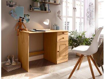 Home affaire Schreibtisch »Vadim«, aus massiver Kiefer, beige, natur geölt