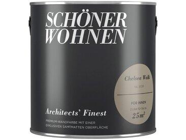 SCHÖNER WOHNEN-Kollektion SCHÖNER WOHNEN FARBE Wand- und Deckenfarbe »Architects' Finest - Chelsea Walk«, 2 l, braun, Chelsea Walk