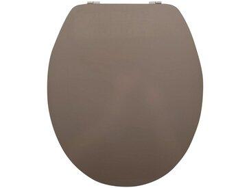 MSV WC-Sitz »WEISS«, Acryl, grau, taupe