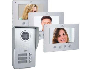 Elro »DV477W3« Smart Home Türklingel (Außenbereich, Innenbereich, 3-Familien Video Gegensprechanlage)
