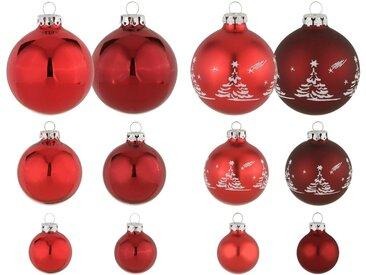 Thüringer Glasdesign Weihnachtsbaumkugel »Advent« (30 Stück), mundgeblasen