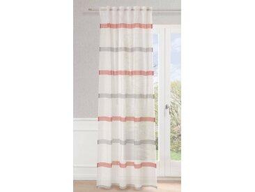 Neutex for you! Vorhang »Mali«, Multifunktionsband (1 Stück), Schal mit verdeckten Schlaufen, weiß, rot-anthrazit-wollweiß