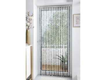 Home affaire Türvorhang »Pearl«, Hakenaufhängung (1 Stück), Kunststoff, transparent/schwarz, 72 Stränge