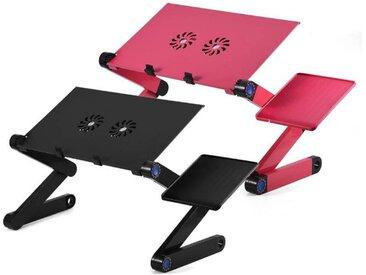 Greensen Laptoptisch, Faltbar Notebooktisch Betttisch mit Mausablage Lüfter, schwarz, Schwarz
