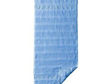 Cawö Frottiertücher, blau, Frottiertuch uni, bleu