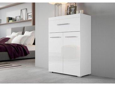 Wilmes Kommode »Slesi«, Breite 70 cm, weiß, Weiß/Weiß Hochglanz
