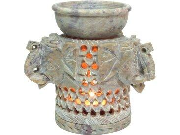 Guru-Shop Duftlampe »Indische Duftlampe, ätherisches Öl Diffusor,..«, Drei Elefanten