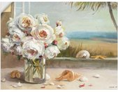 Artland Wandbild »Küsten Rosen II«, Blumen (1 Stück), in vielen Größen & Produktarten -Leinwandbild, Poster, Wandaufkleber / Wandtattoo auch für Badezimmer geeignet