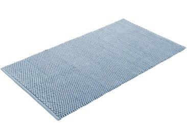 Home affaire Badematte »Dalia« , Höhe 4 mm, beidseitig nutzbar, Badgarnitur, 100% Baumwolle, blau, blau