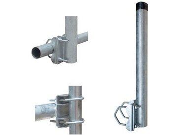 PremiumX »Balkon-Halter 50cm Ø 48mm Stahl Mast Geländer-Halterung für Satelliten-Schüssel SAT-Antenne Satelliten-Anlage Sat-Spiegel Ausleger - auch nutzbar als Mastaufsatz Mast-Verlängerung« SAT-Halterung