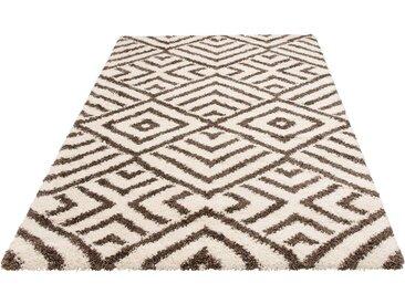 Bruno Banani Hochflor-Teppich »Banel«, rechteckig, Höhe 40 mm, modernes Design, natur, natur