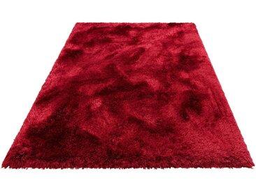 Leonique Hochflor-Teppich »Lasse«, rechteckig, Höhe 76 mm, Besonders weich durch Microfaser, rot, bordeaux