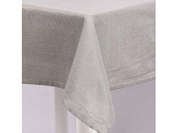 SCHÖNER LEBEN. Tischdecke »Tischdecke Glamour grau silberfarbig Lurex 150x200cm«