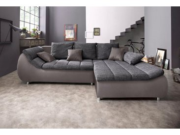 BENFORMATO CITY COLLECTION Ecksofa, grau, ohne Bettfunktion, grau-dunkelgrau