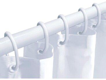 Kleine Wolke Duschvorhang »Dusch-Set« Breite 180 cm (Set, 3-tlg), ausziehbar (125-220 cm), Breite 180 cm