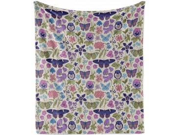 Abakuhaus Foulard »Gemütlicher Plüsch für den Innen- und Außenbereich«, Blumen Schmetterlings-Stiefmütterchen Blumen-Blatt