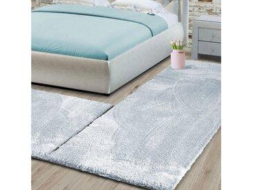 Floordirekt Hochflor-Bettumrandung »Sundae 1A« , Höhe 13.5 mm, (3-tlg), Velours, blau, Hellblau 81