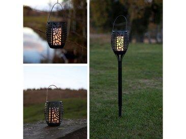 STAR TRADING LED Laterne »LED Solar Fackel/Laterne/Windlicht - Feuersimulation gelbe LED Lichtsensor«
