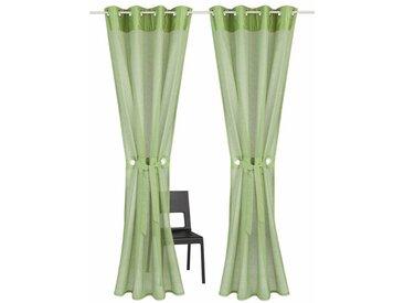 Home affaire Gardine »Willowa«, Ösen (2 Stück), inkl. Raffhalter, grün, grün