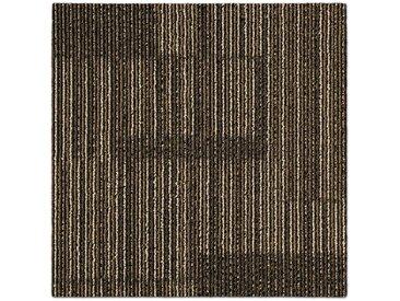 casa pura Teppichfliese »Linz«, Quadratisch, Höhe 6 mm, Selbstliegend, Gemustert, braun, Braun 02