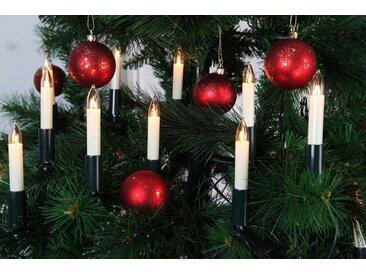 STAR TRADING Christbaumkerzen »Kerzenkette - 16 warmweiße Kerzen - Indoor - Ring - E10 Fassung - H: 14cm, L: 7,5m - weiß«
