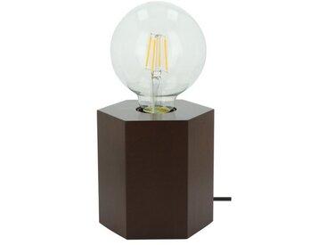 SPOT Light Tischleuchte »Hexar«, Dekorativer Leuchtenfuß aus edlem Masivenholz, geeignet für LM E27, Made in Europe