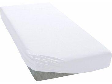 my home Spannbettlaken »Jersey«, mit Rundumgummizug, weiß, Single-Jersey, 1 St., weiß