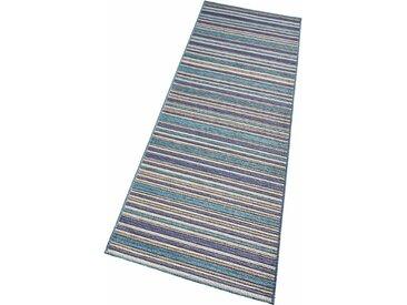 bougari Läufer »Bamboo«, rechteckig, Höhe 7 mm, In- und Outdoor geeignet, blau, blau