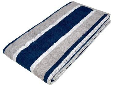 Lashuma Saunatuch »Toronto« (1-St), das flauschige Saunahandtuch mit Streifen!, blau, blau