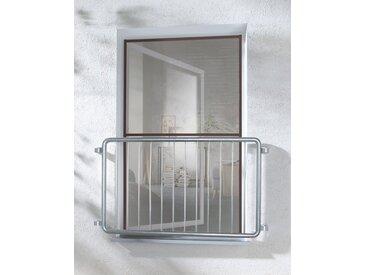 hecht international HECHT Insektenschutz-Fenster »MASTER SLIM XL«, braun/anthrazit, BxH: 130x220 cm, grau, Fenster, 130 cm x 220 cm, anthrazit
