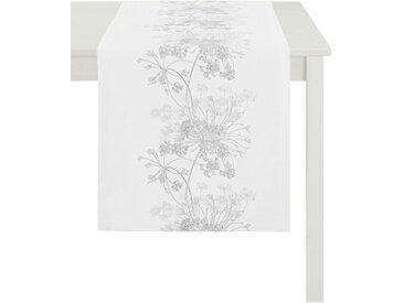 APELT Tischläufer »1105 Herbstzeit, Jacquard« (1-tlg), weiß, weiß-grau