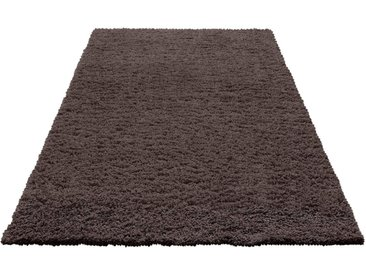 Home affaire Hochflor-Teppich »Viva«, rechteckig, Höhe 45 mm, grau, dunkelgrau