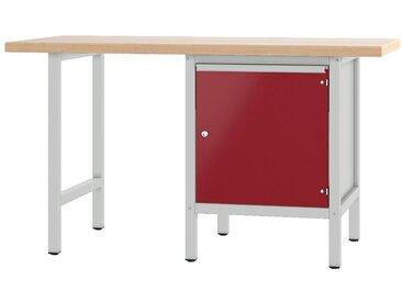 PADOR Werkbank »700.0.11 S 4«, rot, 85.5 cm, grau/rot