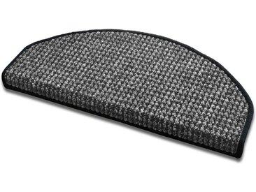 Kubus Stufenmatte »Exeter«, Halbrund, Höhe 9 mm, schwarz, Anthrazit