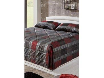 Westfalia Schlafkomfort Tagesdecke, grau, grau-rot
